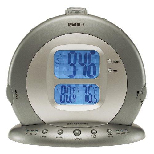 HoMedics Sound SPA Premier Sound Machine Clock Radio with Atomic & Indoor/Outdoor Temperature