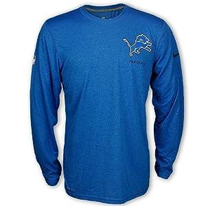 Detroit Lions Long-Sleeve Dri-FIT Elite Logo Legend T-Shirt by Nike by Nike