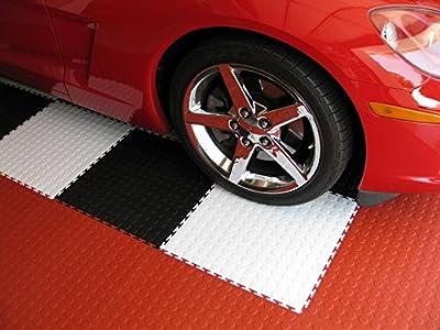"IncStores Coin Flex Garage and Shop Multi-Purpose Flooring Tiles 20.5""x20.5"" 8 Tile Pack Covers 23.35 sqft"