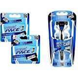 Dorco Pace 3- Three Razor Blade Shaving System- Value Pack (10 Cartridges + 1 Handle) (Tamaño: 10 Cartridges + 1 Handle)