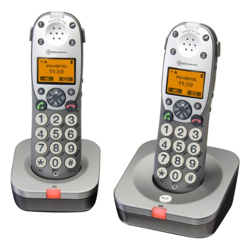 Amplicomms Powertel 702 Big Button Twin Cordless Amplified DECT Telephone - Anthracite image
