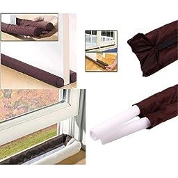 Cozime Twin Door Draft Dodger Guard Stopper Windows Protector Doorstop