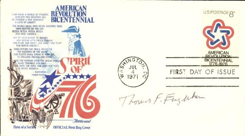 Thomas Eagleton - First Day Cover Signed