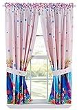 Disney – Die Eiskönigin FROZEN Girls FLORAL BREEZE Window Window Panels, Pink 1 Set (2 Stück) Vorhänge -USA-