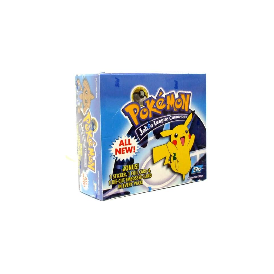 Topps Pokemon Trading Cards Johto League Champions Booster Box 24 Packs