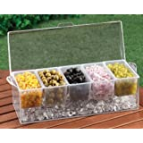 CHILLED CONDIMENT SERVER WITH 5 REMOVEABLE CONTAINERS! (MUTLI, 1)