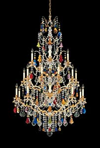 French Empire Crystal Chandelier Lighting H50 X W30 Good