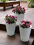 Heredeco Solar Flower Pot Lights Led Planter Vase Lamp-garden Outdoor Yard Home Decoration Light- Landscape Lighting - Led Lantern