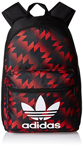 adidas 18.08 Ltrs Black, White and Red Casual Backpack (4056559440749)