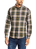 Springfield Camisa Hombre Twill Check (Verde)