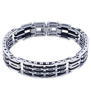 Pugster Men's Stainless Steel Bracelet Mens Stainless Steel Bracelet