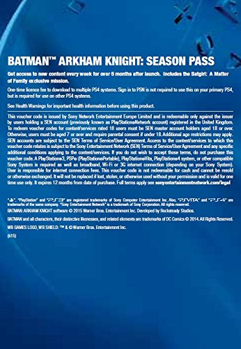 Batman: Arkham Knight Season Pass Online Code screenshot