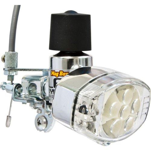 丸善(MARUZEN) Mag Boy [MLA-8-RL-G] LED ホワイト6灯グリーン2灯 リモートレバー装備 発電ランプ