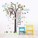 Walplus Removable Wall Stickers Nursery Monkey Measure + Alphabet - Nursery Kid's Room, 148Cm X 167Cm, Multi - Colour