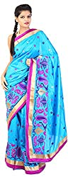 Mili Women's Silk Saree - (Blue, MS-20)