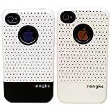 2つセットでお得 iPhone4用ケース W-Face(ホワイト)