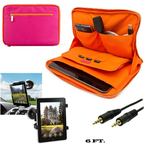 Click to buy Faux Leather Carrying Bag Sleeve Case For Asus MeMo Pad FHD 10, 10 LTE 10.1-inch Tablet + Windshield Car Mount with Auxiliary Cable (AUX) - From only $33.98