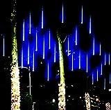 ライト LED 流星雨ライト 8本セット クリスマス ツリー パーティ デコレーション ツリー 装飾 クリス飾り 贈り物 店舗装飾 (30cm)
