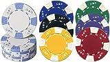 51aV8xJAeeL. SL160  AK DESIGN, 2  tone Poker Chips   Farbe: weiss (pro Stück)