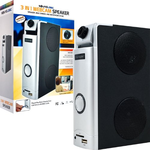 3 In 1 Webcam Desktop Speaker - Great For Skype