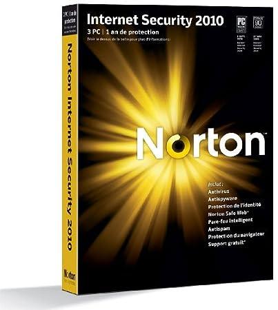Norton internet security 2010 (3 postes, 1 an)