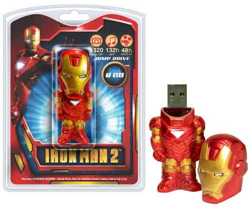 Tyme Machines Iron Man 2 8GB USB 2.0 Flash Drive - 1