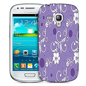 Snoogg Seamless Floral Pattern Abstract Background Designer Protective Back Case Cover For Samsung Galaxy S3 Mini