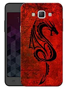 "Humor Gang Red Dragon Printed Designer Mobile Back Cover For ""Samsung Galaxy E5"" (3D, Matte, Premium Quality Snap On Case)"