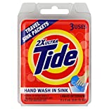 Tide Liquid Detergent, 2X Ultra, Travel Sink Packets, 3 - 0.51 fl oz (5 ml) packets