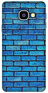 The Racoon Lean brick wall blue hard plastic printed back case / cover for Samsung Galaxy A3 (2016)