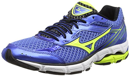Mizuno Wave Connect Scarpe da corsa, Uomo, Blu (Palace Blue/Safety Yellow/Black), 43