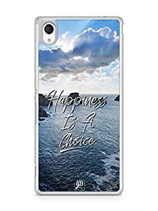 YuBingo Happiness is a Choice Designer Mobile Case Back Cover for Sony Xperia M4
