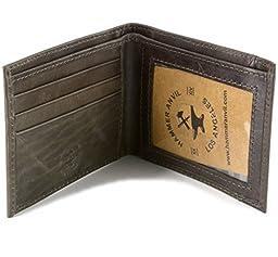 Hammer Anvil Men\'s RFID Blocking Genuine Leather Slimfold Wallet Gray