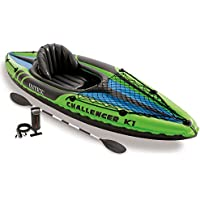 Intex Challenger K1 Inflatable Kayak Kit with Paddle and Pump