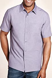 Modal Blend Soft Short Sleeve Checked Shirt [T25-7688M-S]