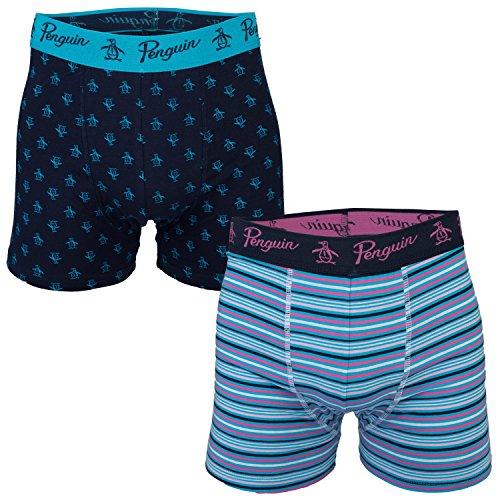 mens-original-penguin-mens-2-pack-boxer-shorts-in-navy-m