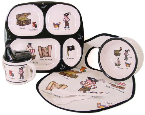 Baby Cie NEW Pirates Theme dinner set: bib, fork, spoon, sippy cup, suction bowl, divided tray, 6 pcs - Buy Baby Cie NEW Pirates Theme dinner set: bib, fork, spoon, sippy cup, suction bowl, divided tray, 6 pcs - Purchase Baby Cie NEW Pirates Theme dinner set: bib, fork, spoon, sippy cup, suction bowl, divided tray, 6 pcs (Baby Cie, Home & Garden, Categories, Kitchen & Dining, Tableware)