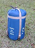 Airblasters Outdoor Sleeping Bag Camping Sleeping Bag Envelope Sleeping Bag for Travel Hiking Multifuntion Ultra-light Blue