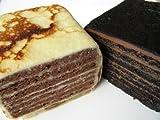 これってミルクレープ?白のパケと黒のパケセット 各500g アイスもお勧め チョコレートケーキ