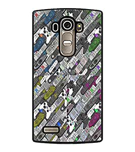 PrintDhaba Pattern D-2980 Back Case Cover for LG G4 (Multi-Coloured)