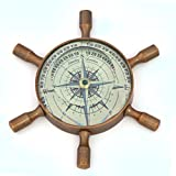 Single PieceEthnic Treat 1 Real Compass Diameter: 3 Brass Real Compass