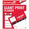 2015 giant print planner calendar - one month to view