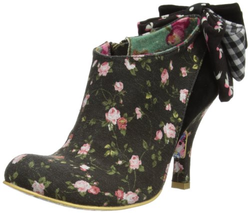Irregular Choice Womens Baby Beauty Boots 3975-01 Black Floral 3 UK, 36 EU