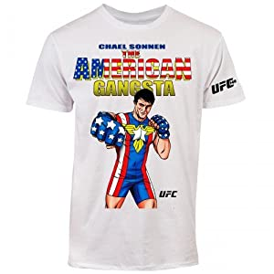 UFC 148 Men's Chael Sonnen American Gangsta T-Shirt (White, XX-Large)