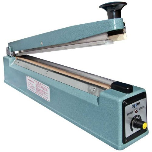 "16"" (400Mm) Impulse Manual Bag Sealer With Cutter, 3Mm Wide Sealing + 2 Spare Replacement Kits front-87171"