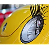 Car Eyelashes FITS ALL CARS Pair of Universal Curly Sexy Car Headlight Eyelashes Decal Sticker Vinyl By AoE Performanceby AoE Performance
