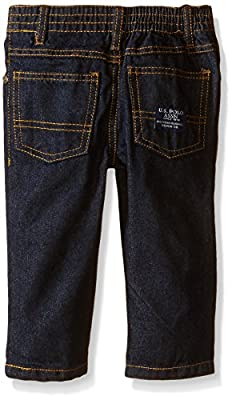 U.S. Polo Assn. Baby Boys' Jersey T-Shirt and Polo with Denim Jean