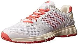 adidas Performance Women\'s Barricade Team 3 W Tennis Shoe, FTWR White/Poppy/Frost, 7 M US