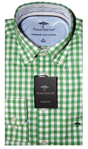 Fynch Hatton Mens Casual Shirt 131-7400 Green (Large)
