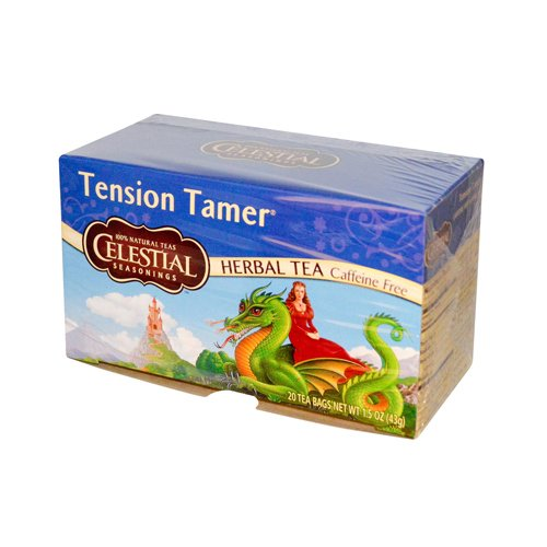 Celestial Seasonings Tension Tamer Herbal Tea Caffeine Free - 20 Tea Bags - Case of 6